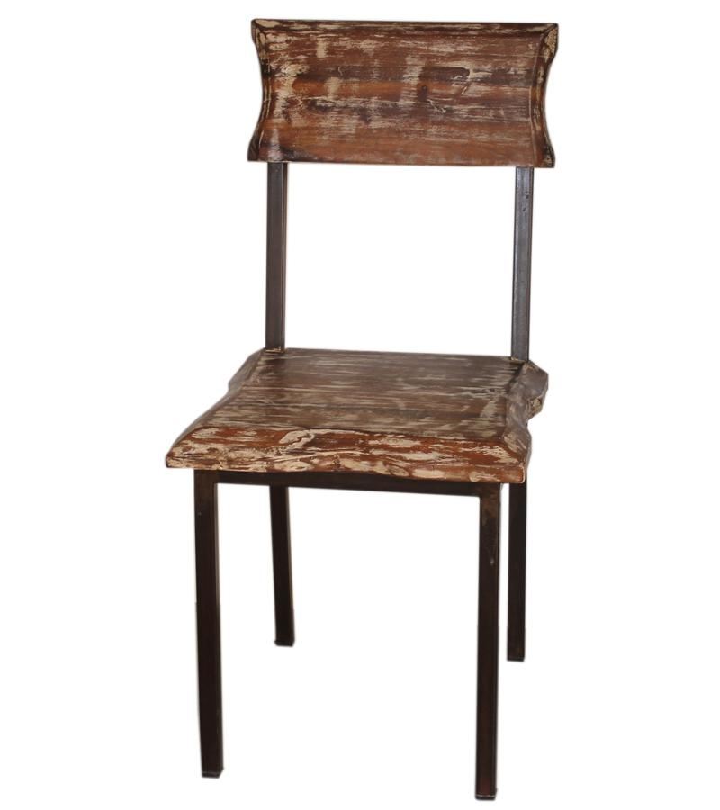 Solid Wood & Iron Live Edge Chairs