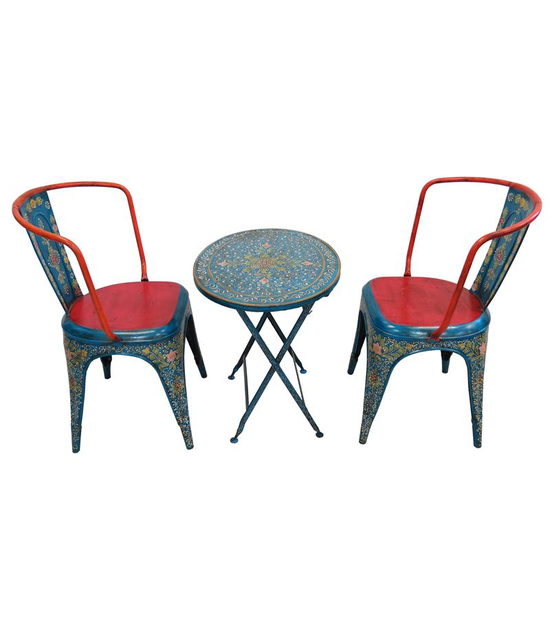 Solid Iron Table & Chair Set
