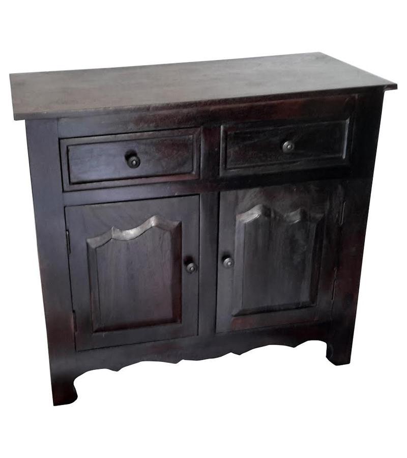 Solid Wood 2-Door 2-Drawer Cabinet