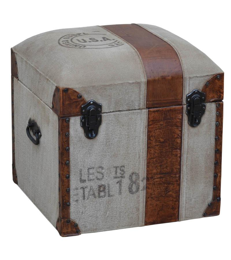 Leather and Fabric Storage Box
