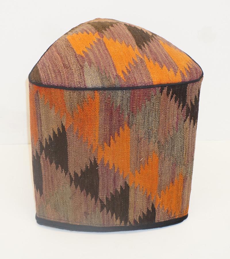 Multicolor Kilim Stool