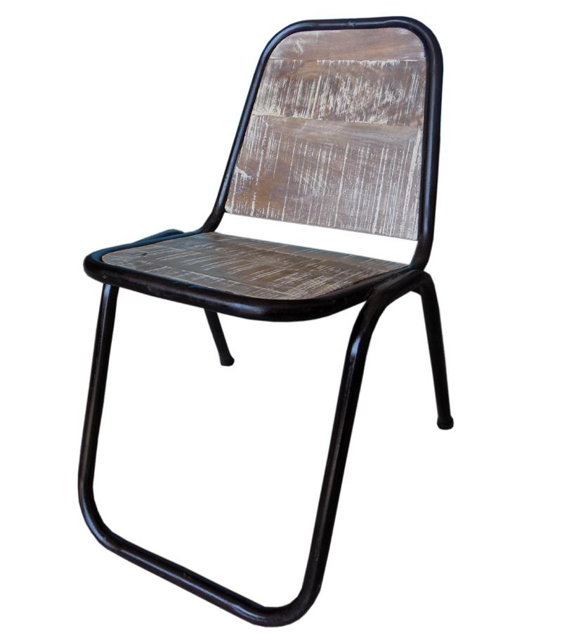 Wooden Iron Chair