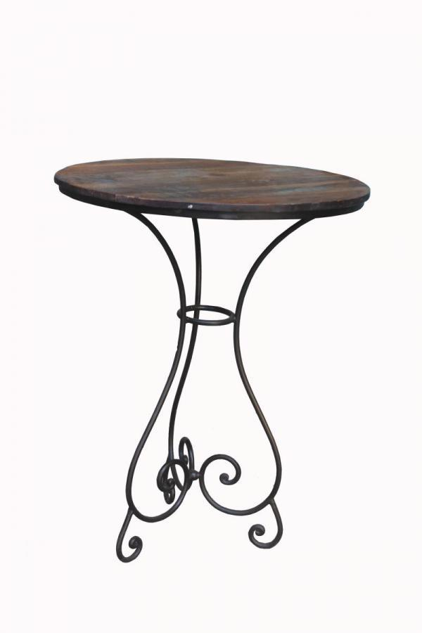 Solid Wood & Iron Round Table