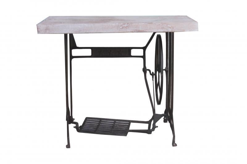 WOODEN IRON SEWING MACHINE TABLE