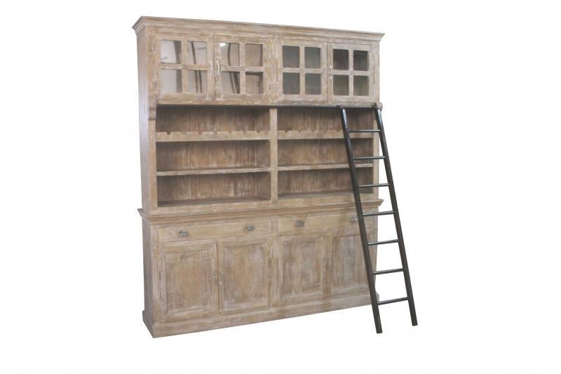 WOODEN BOOKSHELF WITH GLASS