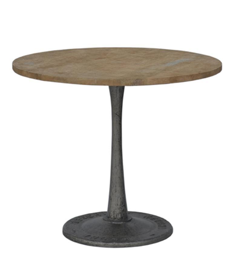WOODEN IRON ROUND TABLE