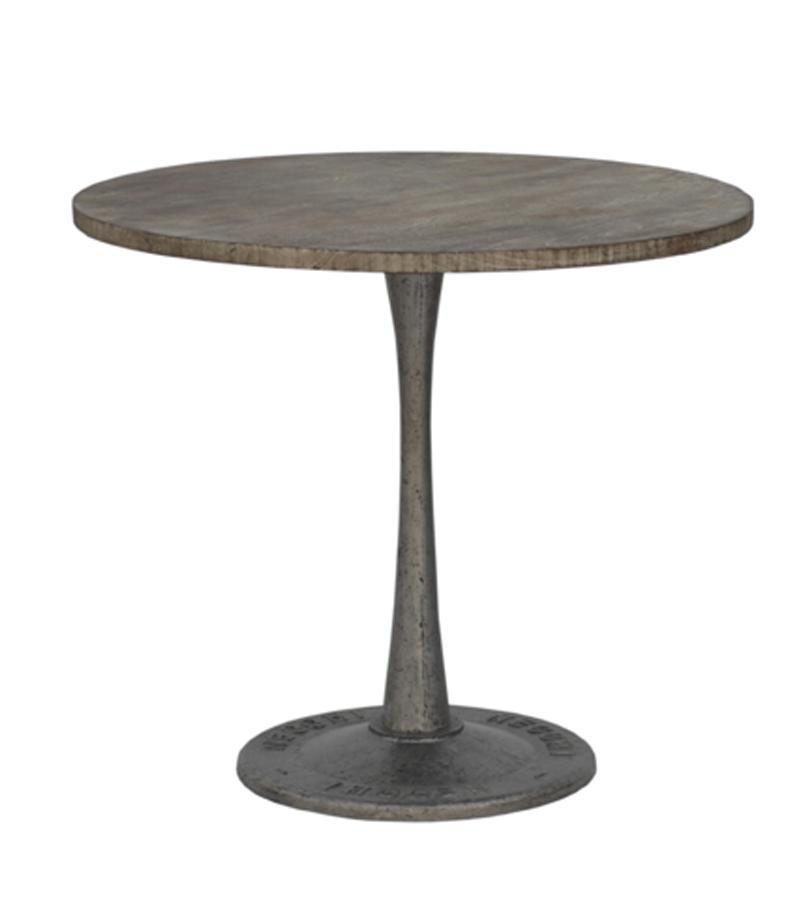 WOODEN IRON ROUND TABLE