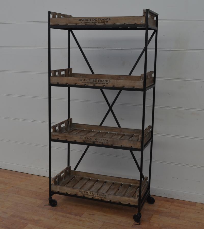Iron Wd Bookcase