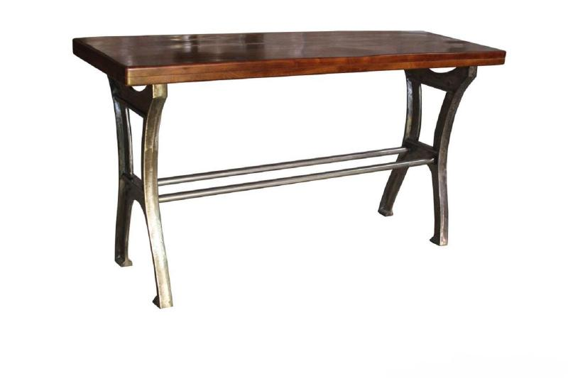 Solid Wood Console Table w Iron Base