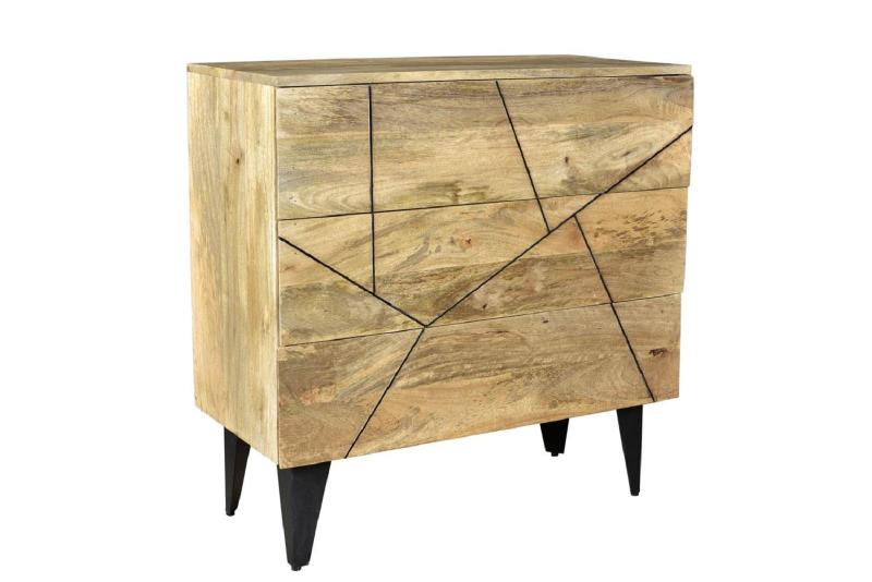 Iron And Wood Drawer Chest