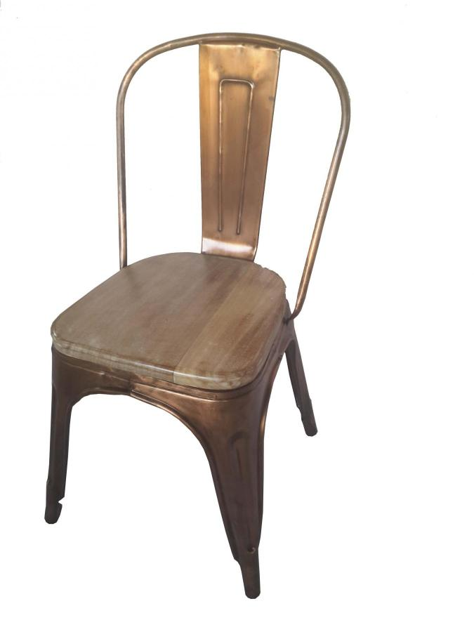 WOOD AND IRON CHAIR