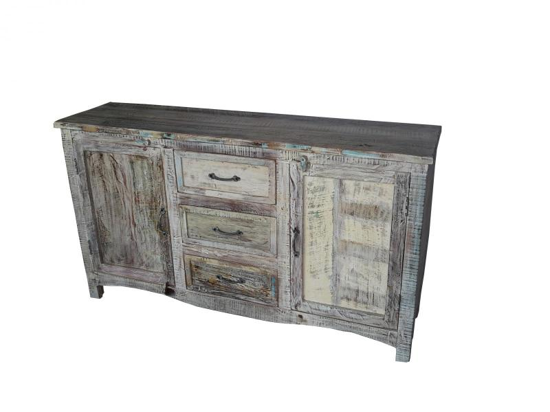 WOODEN 3 DRAWER SIDEBOARD