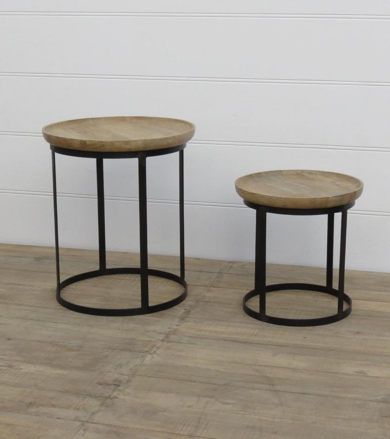 IRON COFFEE TABLE S/2