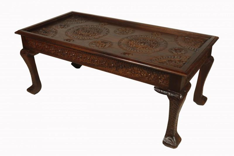 WOODEN CARVED COFFEETABLE