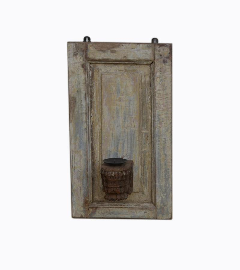 WOODEN WALL CANDEL