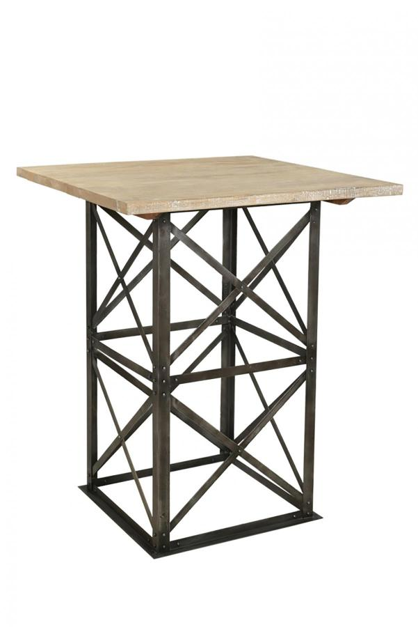 IRON WD. TOP BAR TABLE