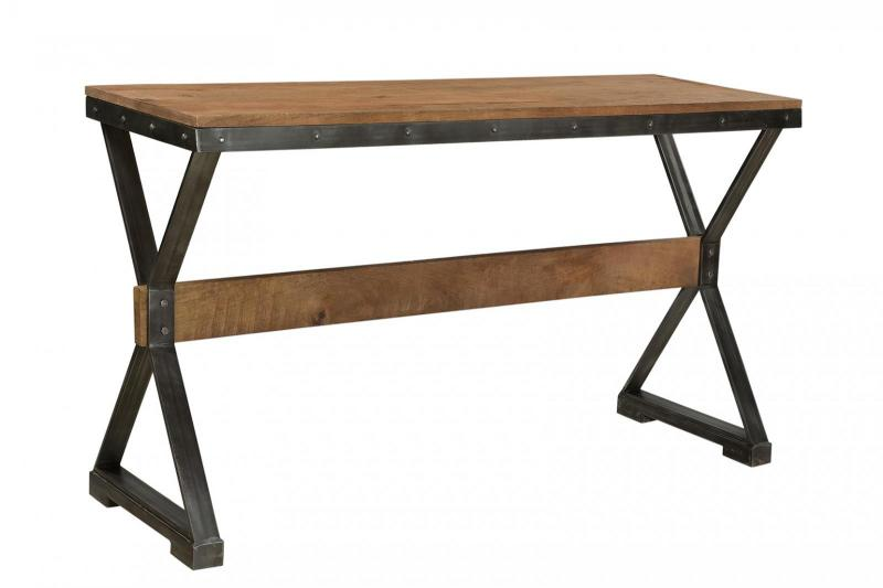WD. TOP IRON CONSOLE TABLE