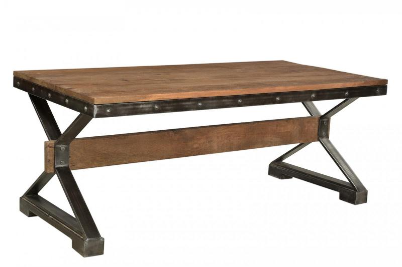 WD. TOP IRON COFFEE TABLE
