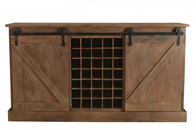 WD.  2 SLIDING DOOR WINE RACK SIDEBOARD