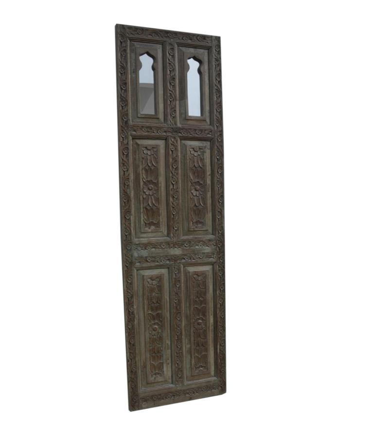 WOODEN DOOR MIRROR