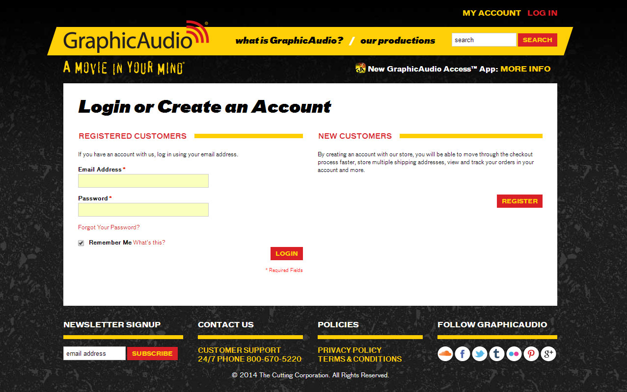 En customer account create downloader/downloader - 1 Create An Account If You Don T Have One Already On Our Website Www Graphicaudio Net How To Download