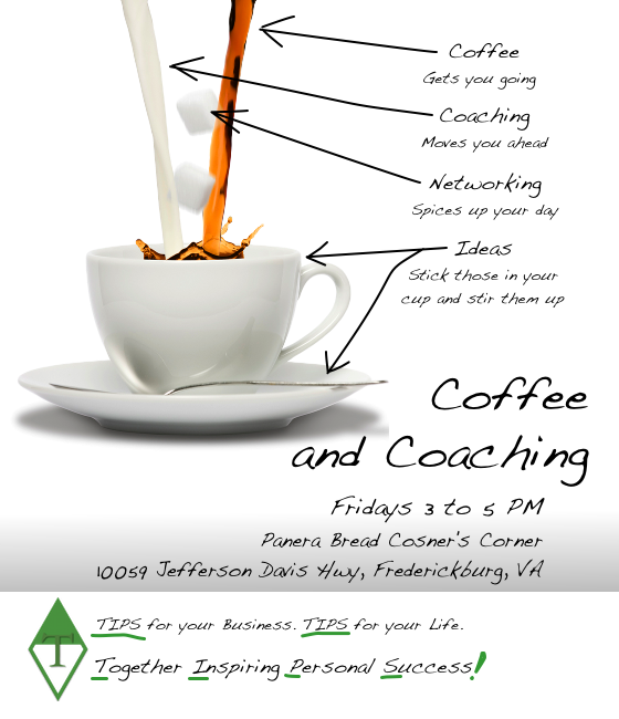 Coffee and Coaching Every Friday from 3-5PM