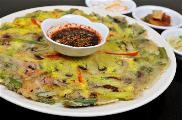 Seafood Pancake - The Owl (Boo Ung Ee) Korean Restaurant