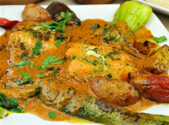 Trout with Coriander Sauce - Taste of Tunisia