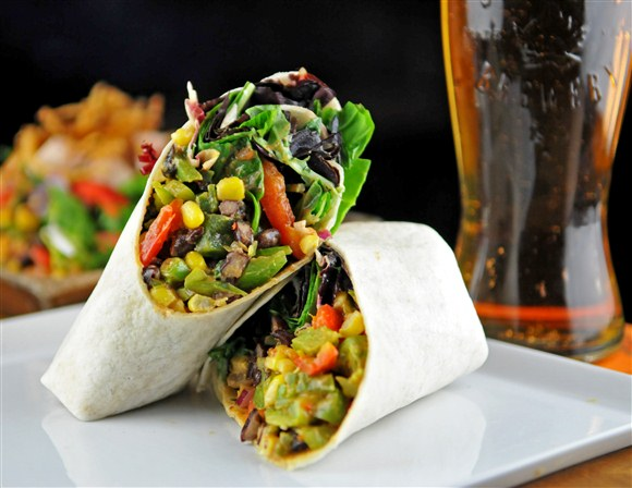 Veggie Wrap w/ Black Bean Corn Salad - Lou Dawg's