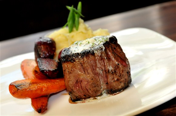 Porcini Crusted 7 oz Filet with Truffle Chive Butter - Earls King Street