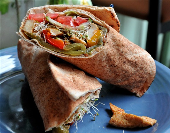 Tofu Veggie Wrap - Sage Cafe and Catering