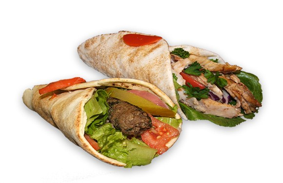 1 Kabab and 1 Shawarma Sandwich - Wrap and Grab