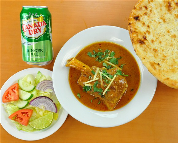 Lamb Shank & Naan Combo - Mehran Restaurant
