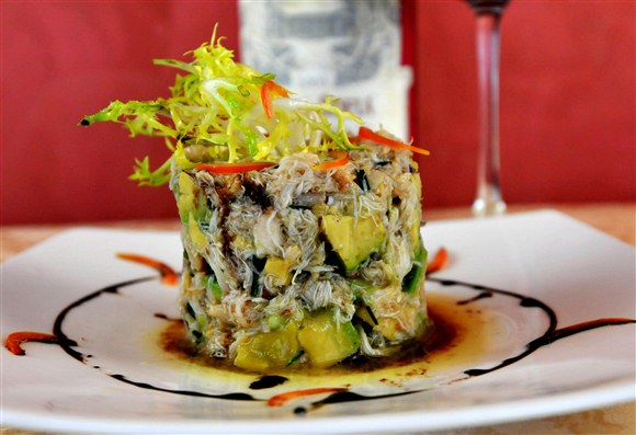 Fresh Atlantic King Crab and Ripe Avocado Tower - Toula