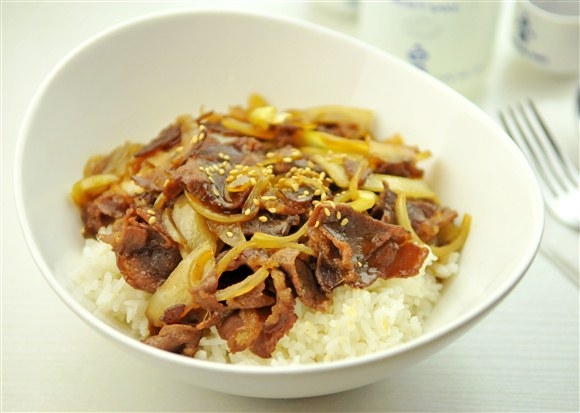 Beef with Rice - Gold Zen Japanese & Asian Dining