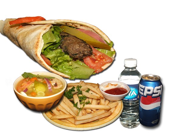 Kabab Sandwich Combo - Wrap and Grab