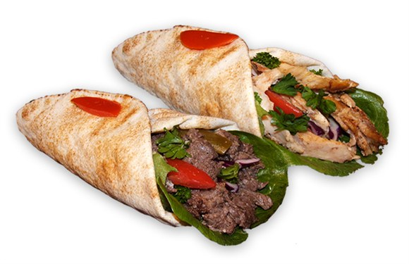 2 Shawarma Sandwiches - Wrap and Grab