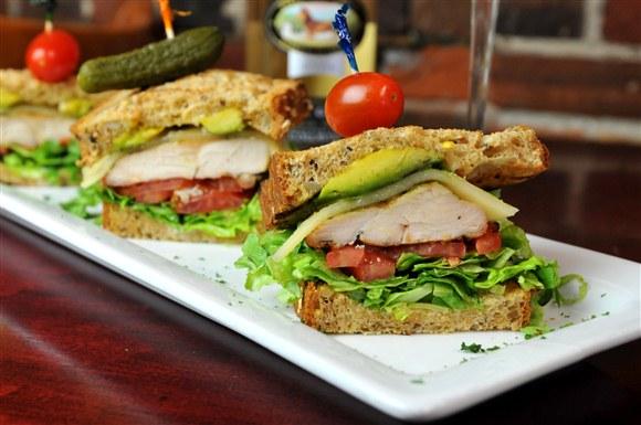 Avocado Chicken Club on Multi Grain - Green Eggplant Restaurant