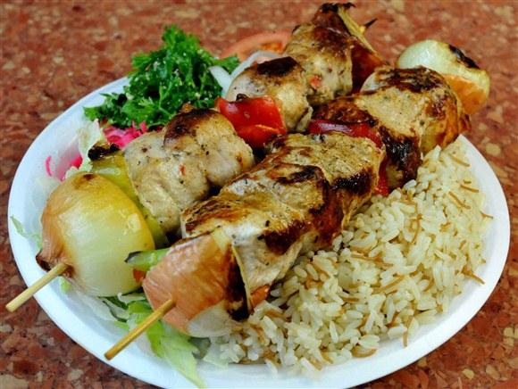 Shish Tawook Platter - Ali Baba's