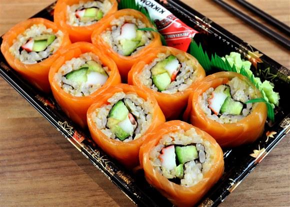 Salmon Wrap Brown - Sushi-Q