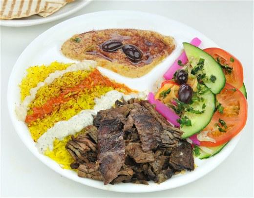 Beef Shawarma Plate - Oaza Shawarma
