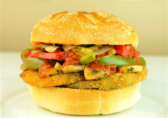 Eggplant Sandwich - The Big Slice