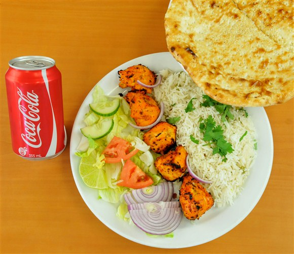 Chicken Breast Rice & Naan Combo - Mehran Restaurant