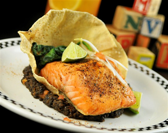 Indian-Spice Crusted Atlantic Salmon - School Bakery & Cafe