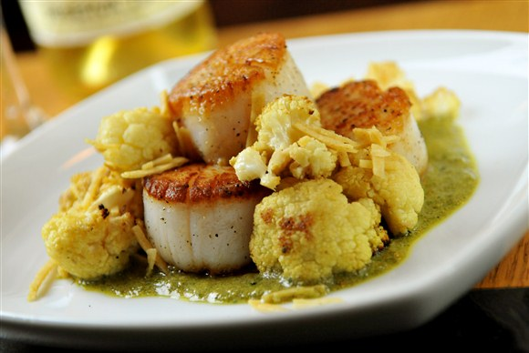 Seared Sea Scallops - Cava