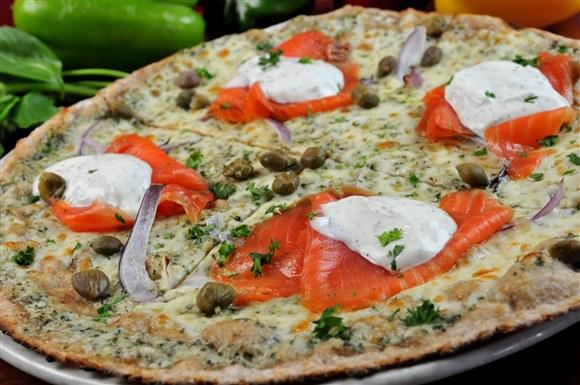 Smoked Salmon Pizza - Pizza Rustica