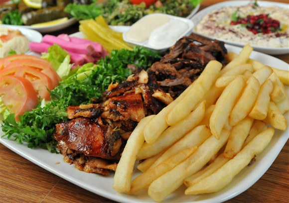 Chicken and Beef Shawarma Plate - Paramount Fine Foods