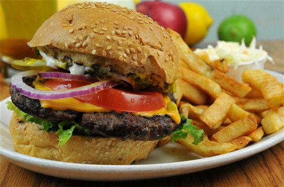 Hamburger & Chips - Olde Yorke Fish and Chips
