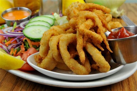 Calamari & Greek Salad - Olde Yorke Fish and Chips