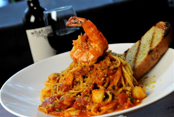 Spicy Seafood Linguini - Earls King Street